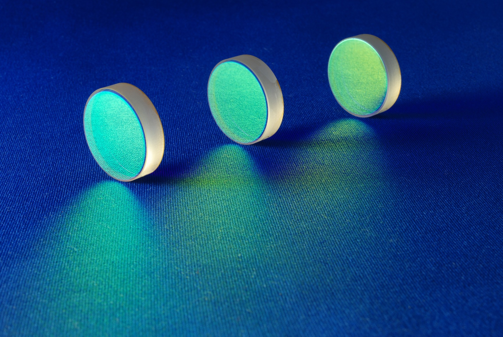these optical components are for laser industry; flat thick mirrors with special reflection coating used in Laboratory Science and in Laser Manufacture